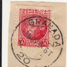 Sellos: S/FRAGMENTO. EDIFIL 687. MATº GRANADA. 3 NOV. 35. Lote 53957192