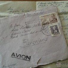 Sellos: CARTA CON CENSURA DE CADIZ A BARCELONA POR AVION. Lote 54075628