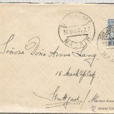Sellos: II REPUBLICA MADRID SUC. 6 CC A ALEMANIA 1931 SELLO SOBRECARGADO. Lote 54101124