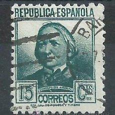 Sellos: R7/ ESPAÑA USADOS 1933/35, EDF, 683, PERSONAJES. Lote 54248355