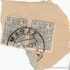 Sellos: S/FRAG, PAREJA DE TIMBRES 'ESPECIAL MOVIL' 15 CTS. MATº MAGAZ (PALENCIA). Lote 54453083
