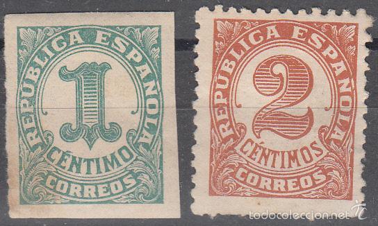 EDIFIL 677/8. CIFRAS, 1933. NUEVO CON FIJASELLOS. (Sellos - España - II República de 1.931 a 1.939 - Nuevos)