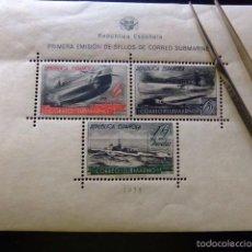 Sellos: ESPAÑA 1938 CORREO SUBMARINO EDIFIL Nº 781 **MNH YVERT Nº BLOC 11 **MNH VER FOTOS. Lote 56128684