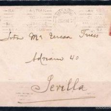 Sellos: 1936.- SAN SEBASTIÁN A SEVILLA. Lote 56462631