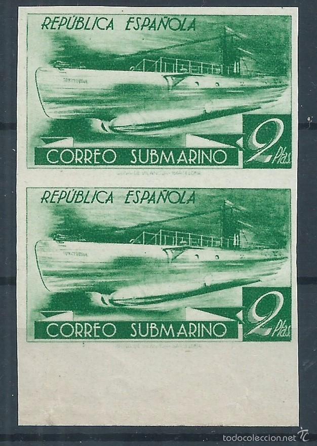 R9/ ESPAÑA EN NUEVO*, 1938, CAT. 72,00€, EDF. 776 CCDS, MUY BONITA PAREJA VERTICAL (Sellos - España - II República de 1.931 a 1.939 - Nuevos)