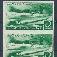 Sellos: R9/ ESPAÑA EN NUEVO*, 1938, CAT. 72,00€, EDF. 776 CCDS, MUY BONITA PAREJA VERTICAL. Lote 57132569