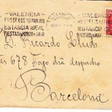 Sellos: CARTA: 1935 VALENCIA - BARCELONA / SELLO 30 CTM. Lote 57375634