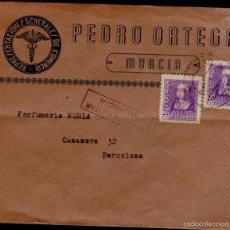 Sellos: L16-6 GUERRA CIVIL - HISTORIA POSTAL. SOBRE DE PEDRO ORTEGA - REPRESENTACIONES GENERALES DE COMERCI. Lote 57402783