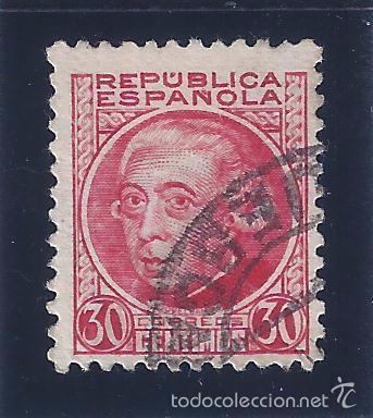 EDIFIL 687 PERSONAJES 1933-1935. MATASELLOS HUESCA (VARIEDAD...SIN PIE DE IMPRENTA) (Sellos - España - II República de 1.931 a 1.939 - Usados)