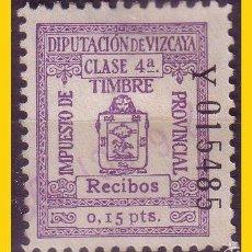 Sellos: DIPUTACION DE VIZCAYA 1932 RECIBOS, ALEMANY Nº 169 (O). Lote 58092770