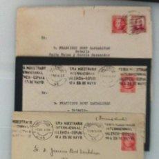 Sellos: LOTE 5 CARTAS REPUBLICA Y GUERRA CIVIL MATASELLO RODILLO DE VALENCIA A GATA DE GORGOS. Lote 58198791