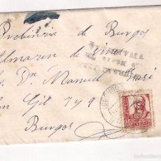 Sellos: SOBRE FRANQUEADO .LOGROÑO A BURGOS. AÑO 1937. Lote 58249768