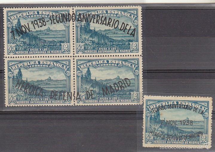 X 789/90 II ANIV. DEFENSA DE MADRID 1938 (Sellos - España - II República de 1.931 a 1.939 - Nuevos)