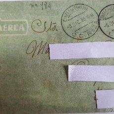 Sellos: ANTIGUO SOBRE CORREO CAMPAÑA -C.C-Nº-2- DEL 30 NOVIEMBRE DE 1938 - POR VIA AEREA -. Lote 59066720