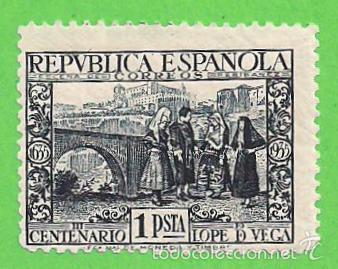 EDIFIL 693. III CENTENARIO DE LOPE DE VEGA. (1935).* NUEVO CON LEVE SEÑAL. (Sellos - España - II República de 1.931 a 1.939 - Nuevos)