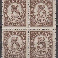 Sellos: EDIFIL 745, CIFRAS, NUEVO EN BLOQUE DE 4 SIN SEÑAL DE CHARNELA. Lote 61756188