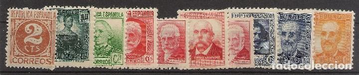 EDIFIL 731/740** PERSONAJES 1936-1938 NL790 (Sellos - España - II República de 1.931 a 1.939 - Nuevos)