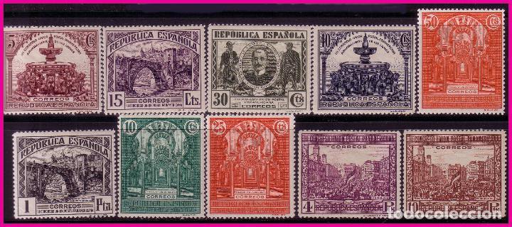 1931 III CONGRESO DE LA UPP, EDIFIL Nº 604 A 613 * (Sellos - España - II República de 1.931 a 1.939 - Nuevos)