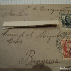 Sellos: SOBRE CON SELLOS DE LA SEGUNDA REPUBLICA CONCEPCION ARENAL 1937. Lote 64386159
