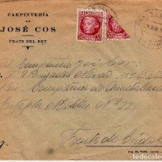 Sellos: GUERRA CIVIL BISECTADO ELS PRATS DE REI -PRATS DEL REY -BARCELONA CARP. JOSE COS AL FRENTE CÓRDOBA. Lote 65980138