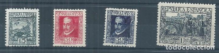 R11/ ESPAÑA NUEVOS * 1935, EDF. 690/93, CAT. 83€, III Cº MUERTE LOPE DE VEGA (Sellos - España - II República de 1.931 a 1.939 - Nuevos)