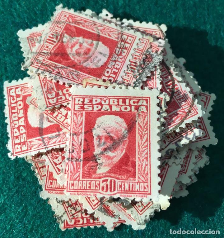 AÑO 1931/32. PERSONAJES. Nº659. 100 UDS. (Sellos - España - II República de 1.931 a 1.939 - Usados)