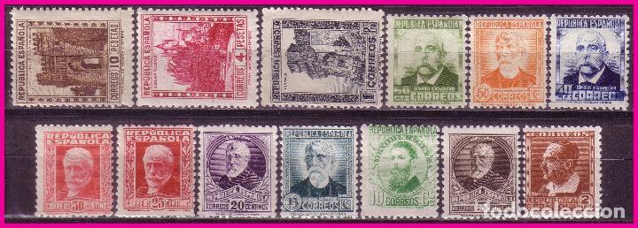 1932 PERSONAJES Y MONUMENTOS, EDIFIL Nº 662 A 675 * * COMPLETA (Sellos - España - II República de 1.931 a 1.939 - Nuevos)