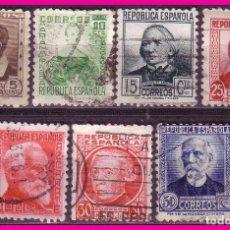 Sellos: 1933 PERSONAJES, EDIFIL Nº 681 A 688 (O) COMPLETA. Lote 68549129