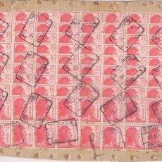 Sellos: GP6- REPÚBLICA. ALTÍSIMO FRANQUEO CERTIFICADO CON 100 SELLOS EDIFIL 752. CHINCHÓN . MADRID 1938. Lote 68919213