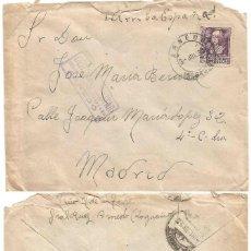 Sellos: SOBRE ARNEDO, LOGROÑO. CENSURA MILITAR ARNEDO. 3 DE JULIO 1939. ISABEL LA CATÓLICA 40 CTS.. Lote 68993509