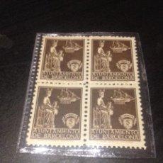 Selos: BLOQUE 4 SELLOS DE CORREOS SIN CIRCULAR DEL AYUNTAMIENTO DE BARCELONA. Lote 69013361