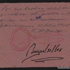 Sellos: 18 JULIO 1938. FRANQUICIA AYUNTAMIENTO TORRENUEVA (CIUDAD REAL) -NO HAY SELLOS- CERTIFICA ALCALDE . . Lote 72245447