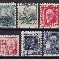 Sellos: 1936-38. CIFRAS Y PERSONAJES SERIE COMPLETA NUEVA SIN FIJASELLOS EDIFIL Nº 731/740 CAT. 39,75 €. Lote 74198998