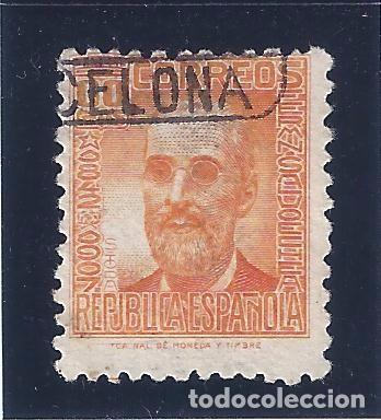 EDIFIL 740 FERMÍN SALVOECHEA 1936-1938. MATASELLOS BARCELONA. (Sellos - España - II República de 1.931 a 1.939 - Usados)