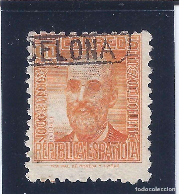 Sellos: EDIFIL 740 FERMÍN SALVOECHEA 1936-1938. MATASELLOS BARCELONA. - Foto 2 - 75512987