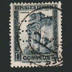 Timbres: II REPÚBLICA ESPAÑOLA.1932.PERSONAJES Y MONUMENTOS.1 PTA.EDIFIL 673.USADO.PERFORADO B. Lote 75823135