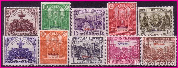 1931 III CONGRESO DE LA UPP, OFICIAL, EDIFIL Nº 620 A 629 * * LUJO, SERIE COMPLETA (Sellos - España - II República de 1.931 a 1.939 - Nuevos)