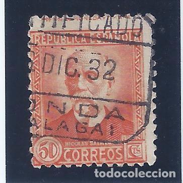 EDIFIL 661 PERSONAJES (NICOLÁS SALMERÓN) 1931-1932. CERTIFICADO DE RONDA. VALOR CATÁLOGO: 21 €.LUJO. (Sellos - España - II República de 1.931 a 1.939 - Usados)
