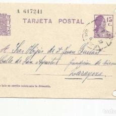Sellos: TARJETA POSTAL CIRCULADA 1932 D NOMESPE MARCA AMBULANTE ASCENDENT ARAGON A ZARAGOZA ESCRITA VER FOTO. Lote 78817301