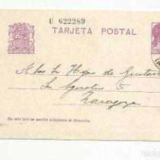 Sellos: TARJETA POSTAL EDIFIL 69 CIRCULADA 1934 DE JACA HUESCA A ZARAGOZA ESCRITA VER FOTO. Lote 78817457