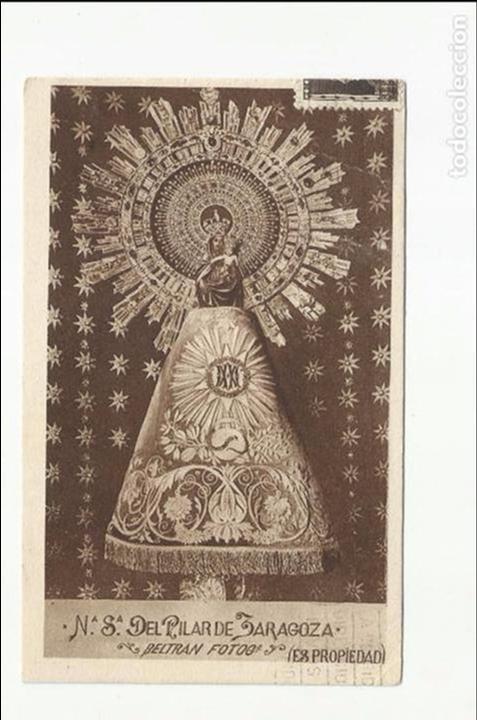 Sellos: tarjeta postal virgen pilar circulada 1935 d zaragoza a requetes aragon villalar teruel ver foto - Foto 2 - 78819337