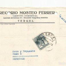 Sellos: TARJETA POSTAL CIRCULADA 1936 DE TERUEL A ZARAGOZA VER FOTO. Lote 78853393