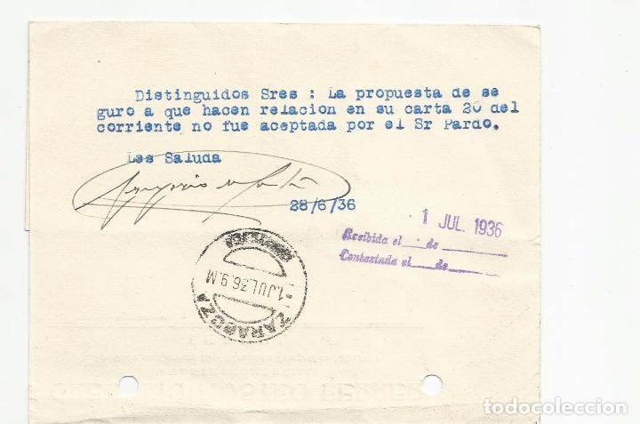 Sellos: tarjeta postal circulada 1936 de teruel a zaragoza ver foto - Foto 2 - 78853393
