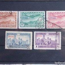 Francobolli: 1931 - III CONGRESO DE LA UNIÓN POSTAL PANAMERICANA - EDIFIL 630 A 634 - OFICIAL - USADOS. Lote 79626801