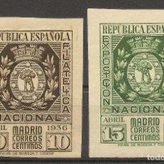 Sellos: EDIFIL 727/728* MH EXPOSICIÓN FILATÉLICA MADRID SERIE COMPLETA 1936 NL979. Lote 80196577