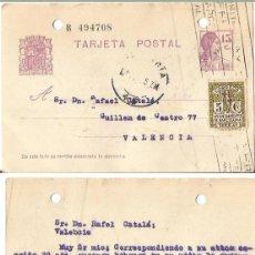Sellos: REPÚBLICA ESPAÑOLA 15CTS. AYUNTAMIENTO DE BARCELONA. 5CS. 1 DE JUNIO DE 1935.. Lote 80976384