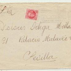 Selos: CARTA DE HUELVA A SEVILLA DEL 17 DE SEPT. DE 1935. FRANQUEADO CON 30 CTS. ROJO DE LA REPÚBLICA.. Lote 81214132