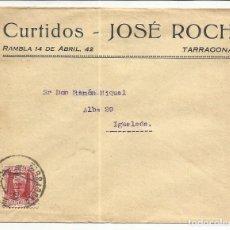 Sellos: CIRCULADA 1931 DE TARRAGONA A IGUALADA BARCELONA CON FECHADOR LLEGADA. Lote 81831588