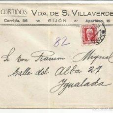 Timbres: CIRCULADA 1934 DE GIJON ASTURIAS A IGUALADA BARCELONA . Lote 81832156