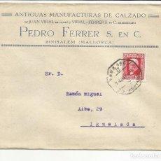 Sellos: CIRCULADA 1934 DE BINISALEM MALLORCA A IGUALADA BARCELONA CON FECHADOR AMBULANTE. Lote 81864572